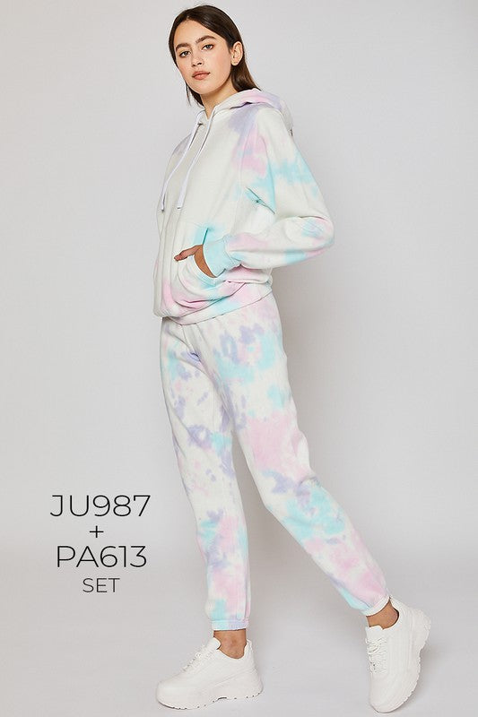 Fleece Jogger - Cloud Tie Dye.