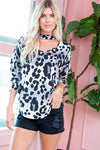 Leopard Grey Top