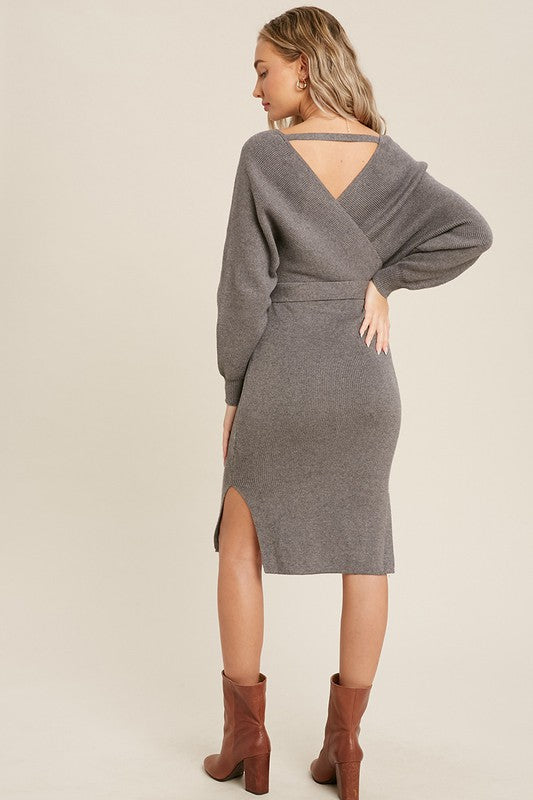 Baci Dress - Grey - OWN YOUR ELEGANCE