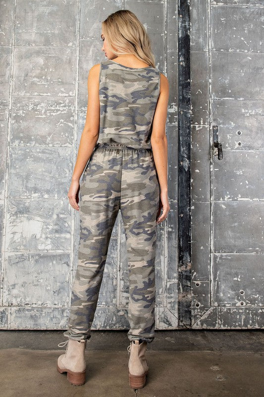 Olive Camo Jumpsuit - OWN YOUR ELEGANCE