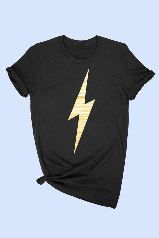 Gold Thunder T-Shirt - Black.