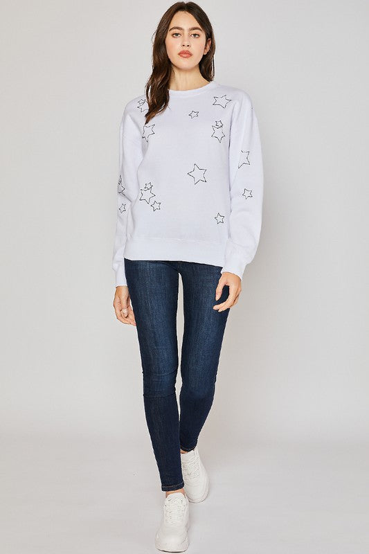 Star White Sweatshirt.