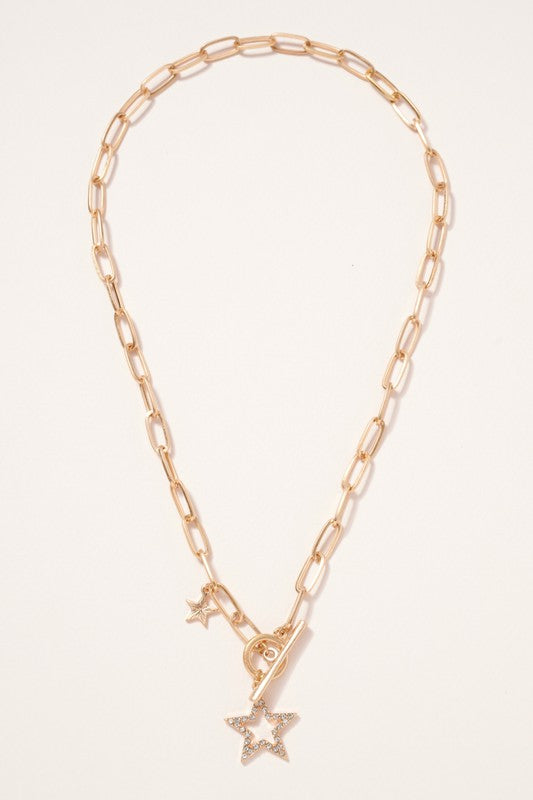 Toggle Star Charm Necklace - Gold.