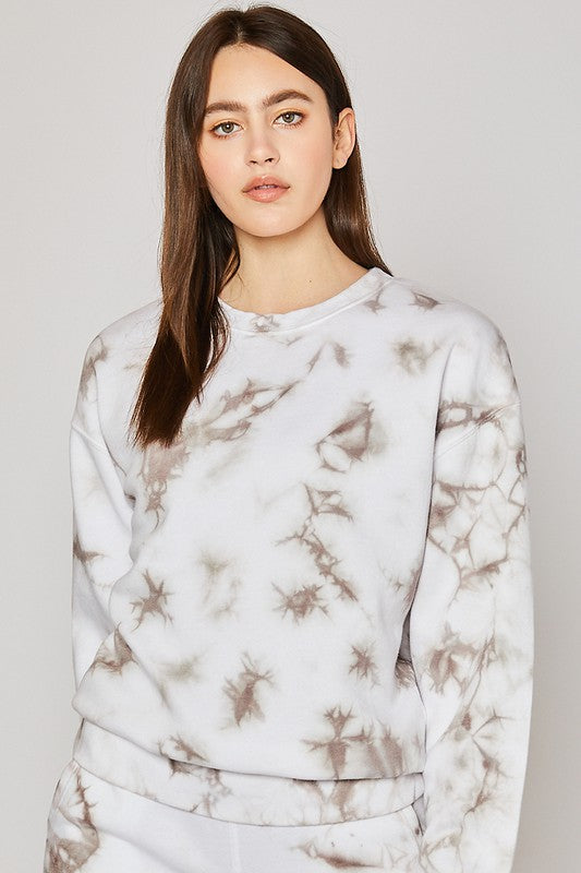Marble Tie Dye Sweatshirt - OWN YOUR ELEGANCE