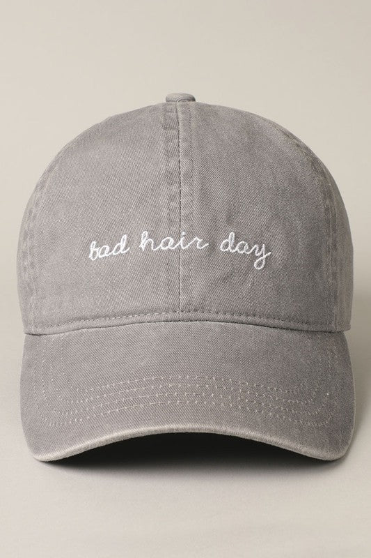 Bad Hair Day Baseball Cap - Grey