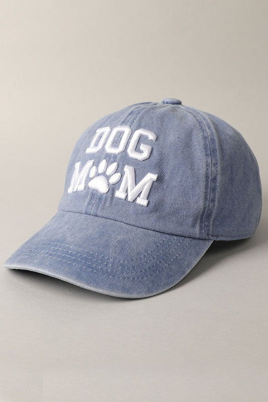 Dog Mom Baseball Cap - Denim Blue
