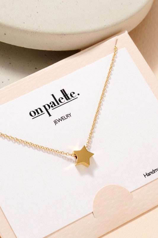 Short Star Necklace.