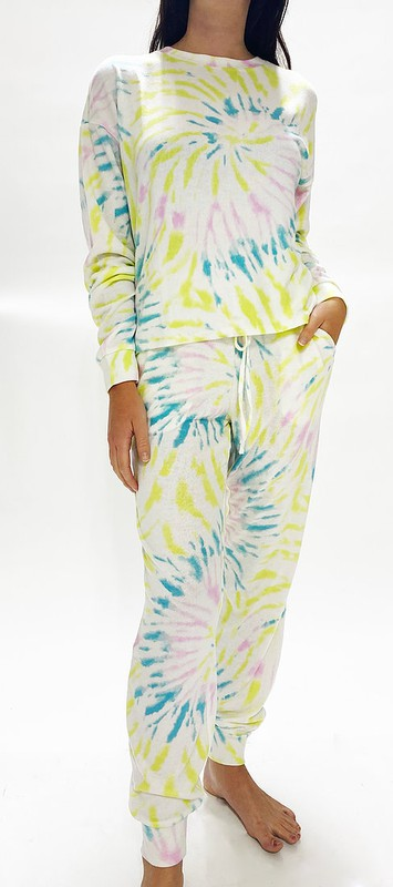 Lime Swirl Lounge Set - Top & Joggers
