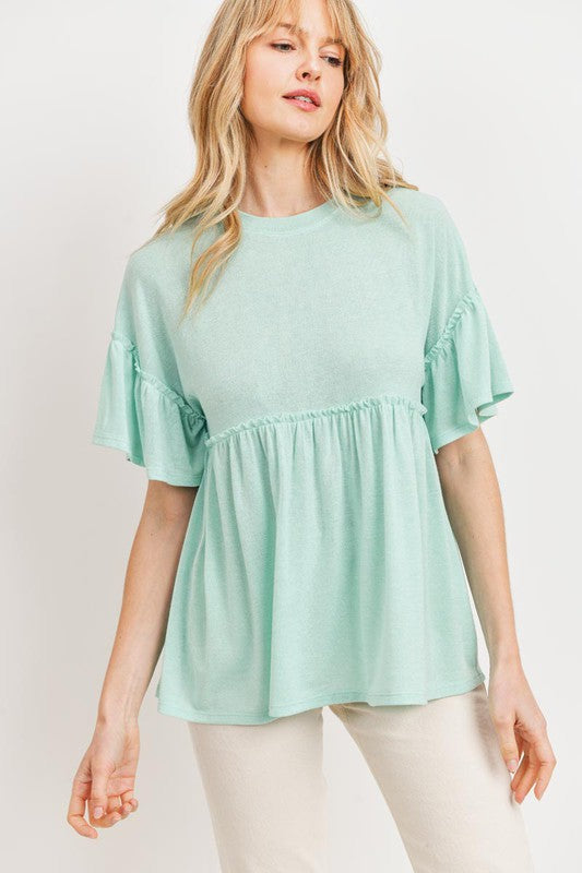 Avril Peplum Top