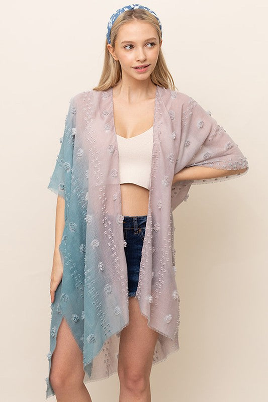 Ombre Pom-Pom Cover Up - Blue