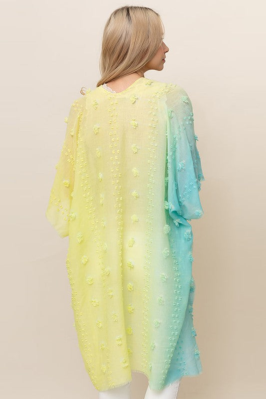 Ombre Pom-Pom Cover Up - Yellow