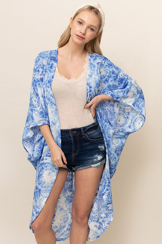Blue Tie Dye Cover Up