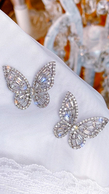 Butterfly Earrings - Silver