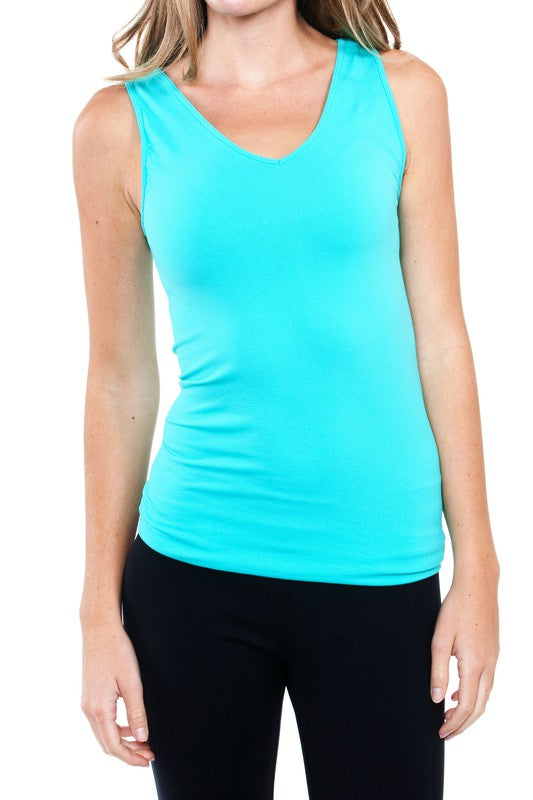 Seamless Tank - Pool Blue