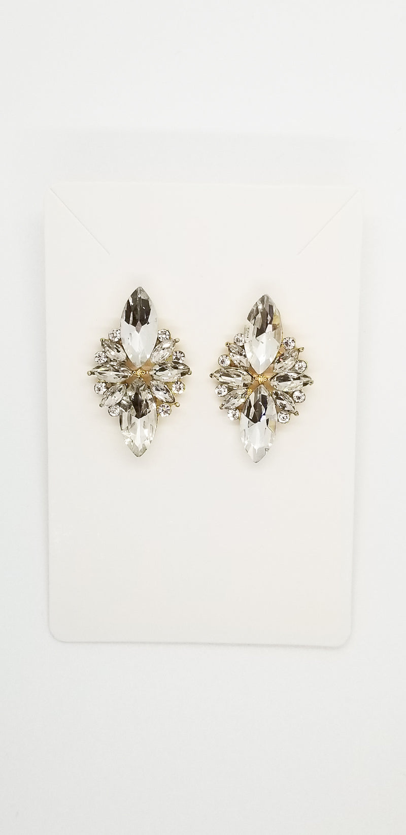 Spade Earrings - Clear - OWN YOUR ELEGANCE