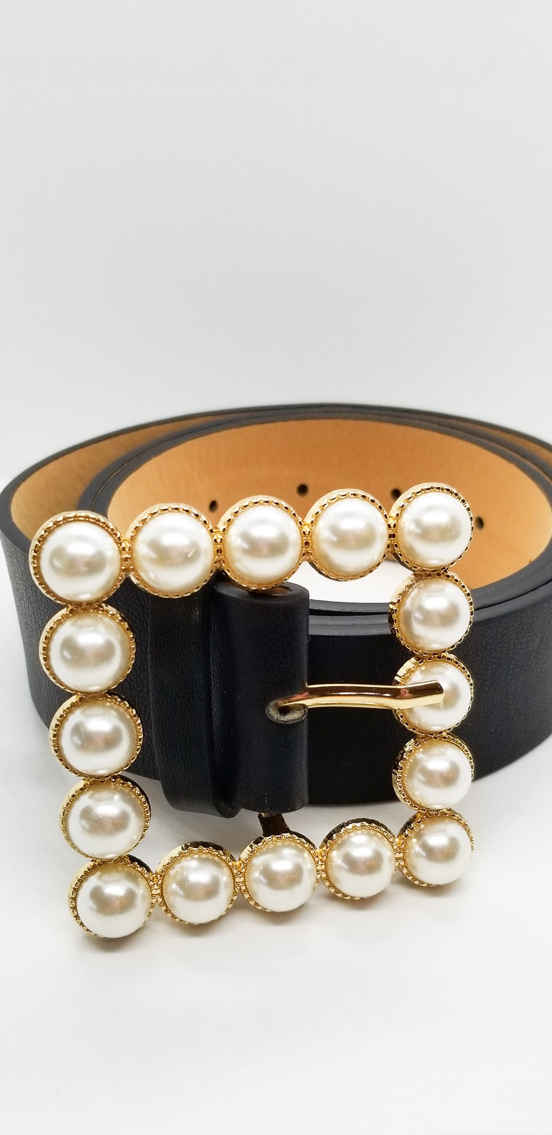 Pearl Faux Leather Belt - OWN YOUR ELEGANCE