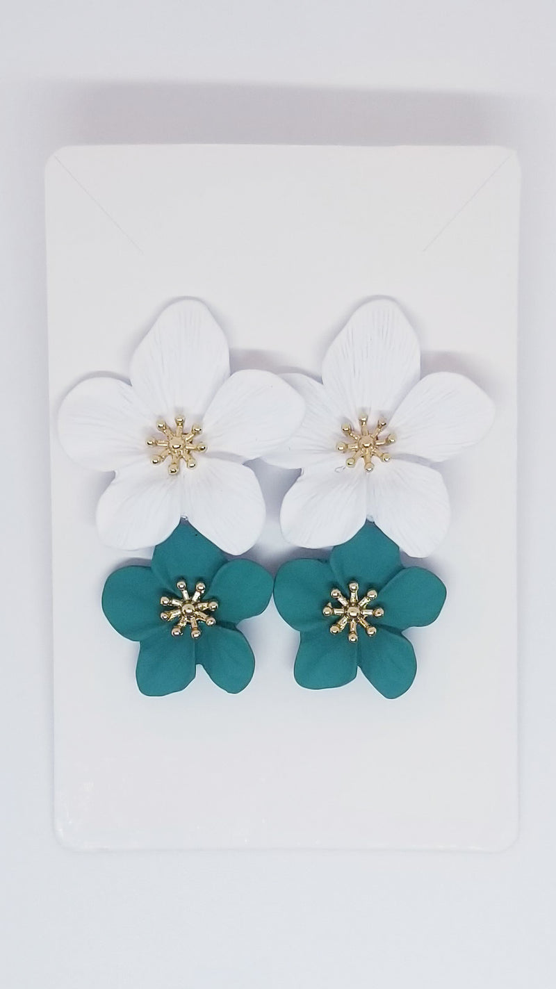 Resort Earrings - Teal - OWN YOUR ELEGANCE