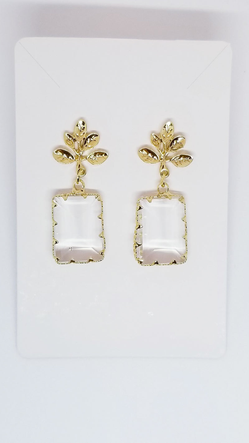 Mirrored Leaf Earrings - OWN YOUR ELEGANCE