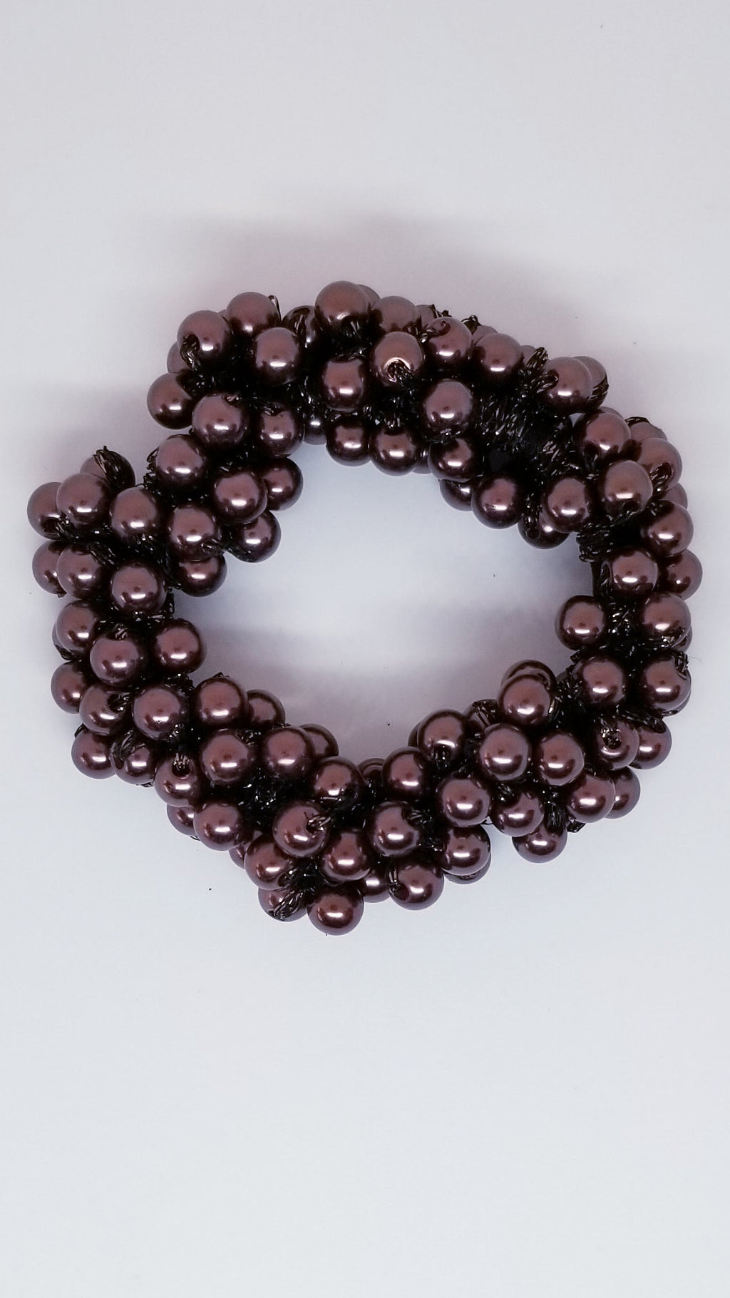Pearl Hair Tie - Brown - OWN YOUR ELEGANCE
