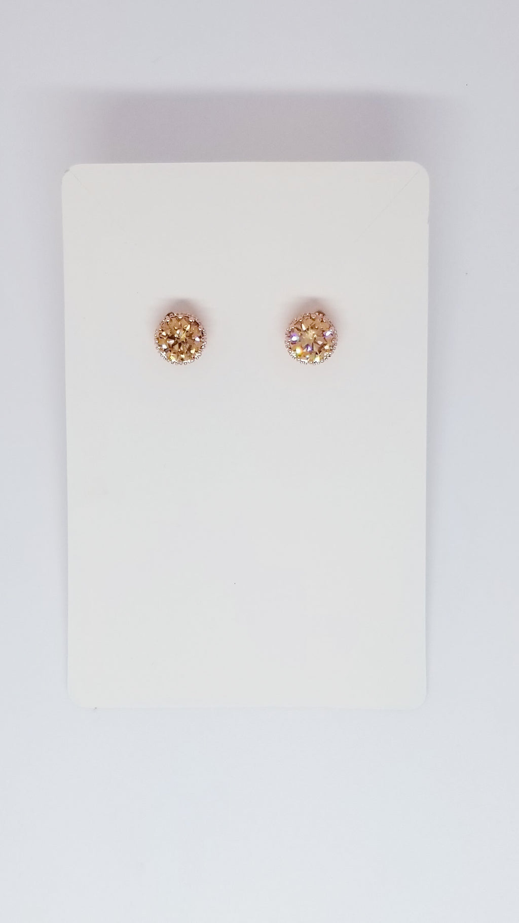 Stud Earrings - Gold Stone - OWN YOUR ELEGANCE