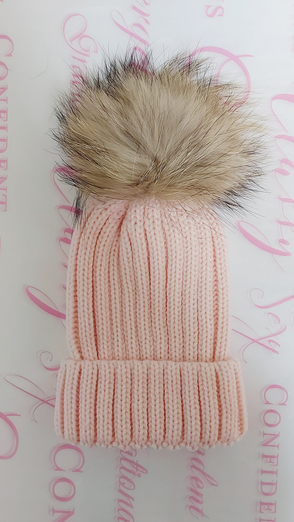 Kids Pom Pom Beanie - Pink - OWN YOUR ELEGANCE