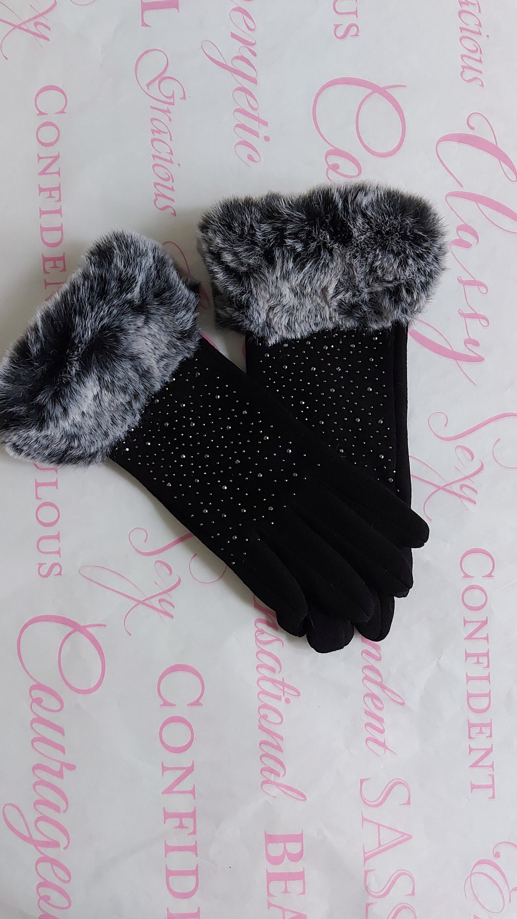 Fur Stud Leather Gloves - OWN YOUR ELEGANCE