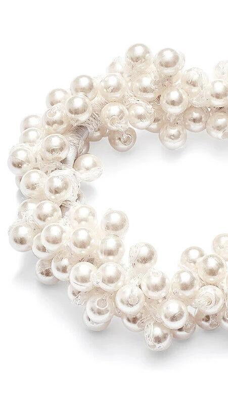 Pearl Hair Tie - White - OWN YOUR ELEGANCE