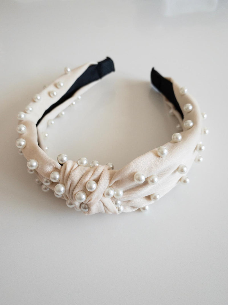 Silk Pearl Headband - Cream - OWN YOUR ELEGANCE