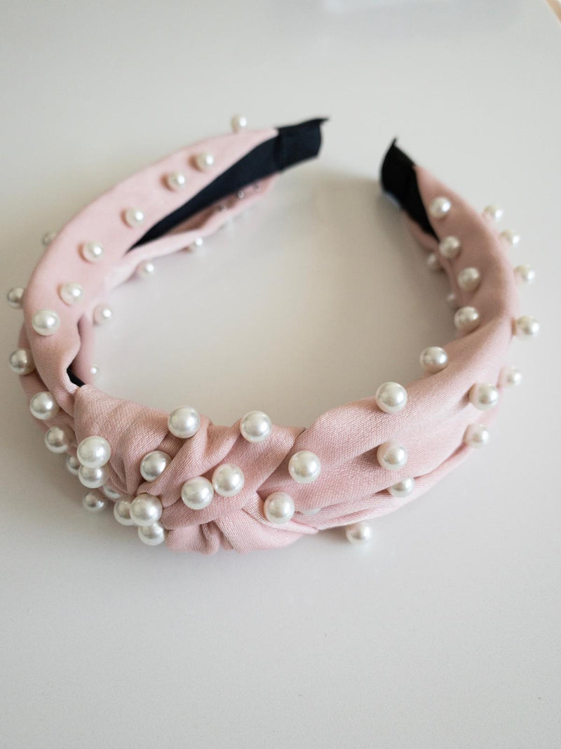 Silk Pearl Headband - Blush - OWN YOUR ELEGANCE