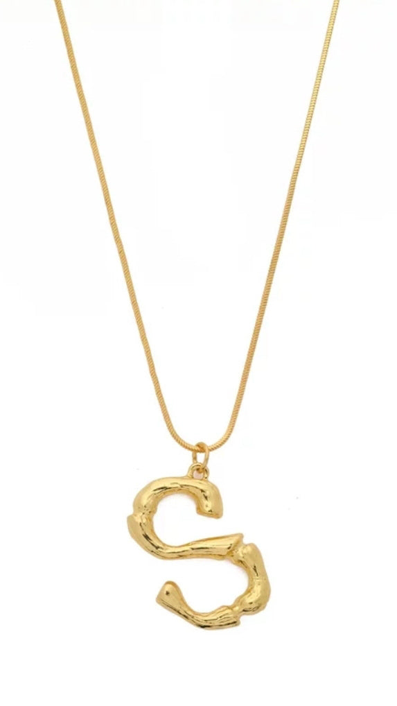 Gold Letter Necklace - OWN YOUR ELEGANCE