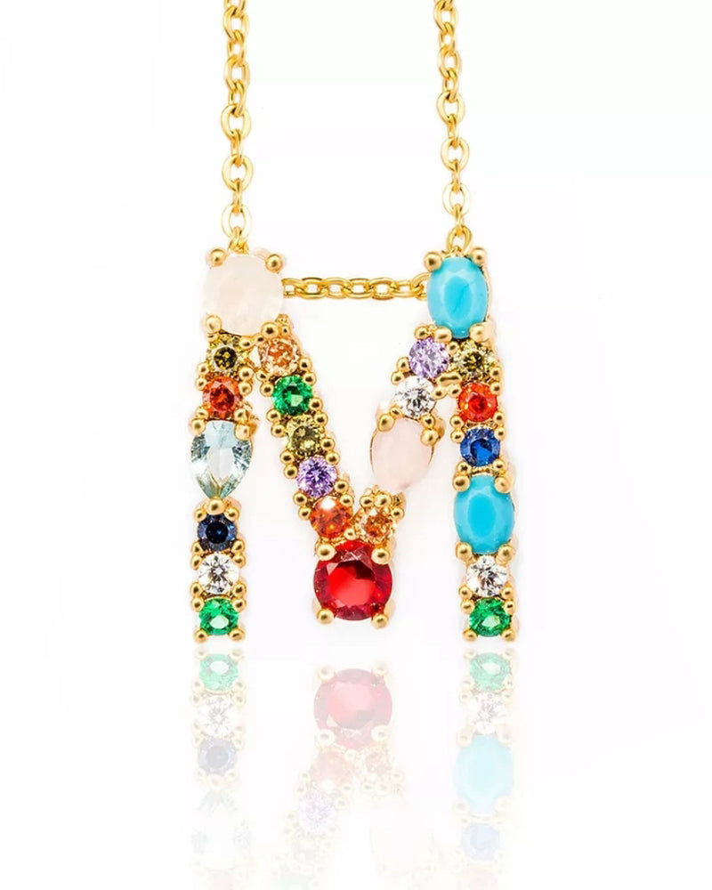 Rainbow Letter Necklace - OWN YOUR ELEGANCE