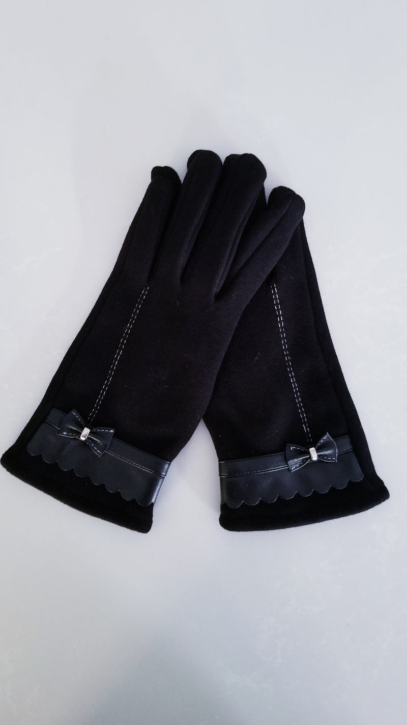 Bow Suede Gloves - OWN YOUR ELEGANCE