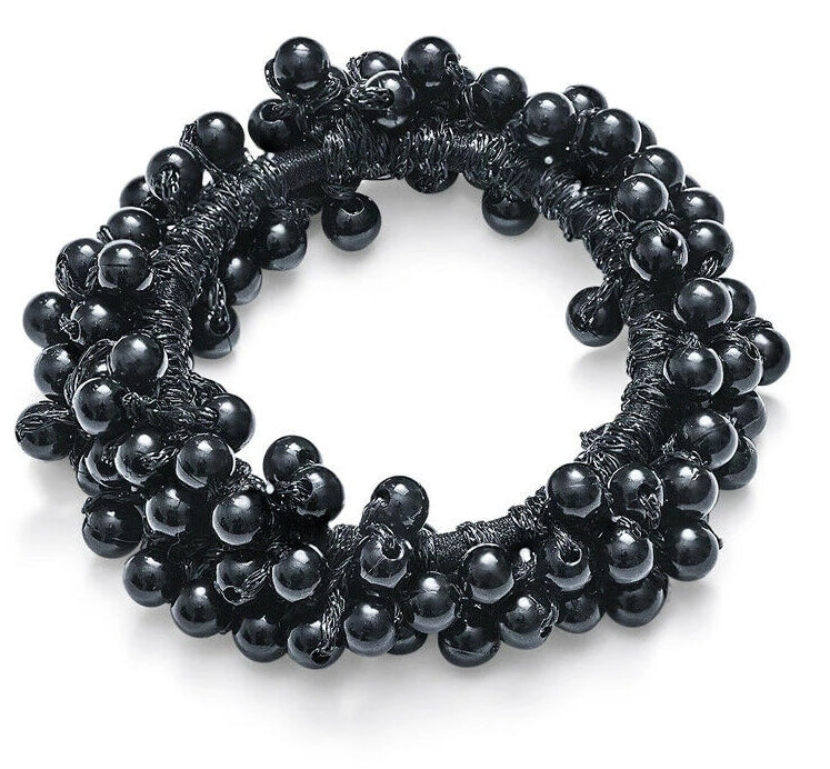 Pearl Hair Tie - Black - OWN YOUR ELEGANCE