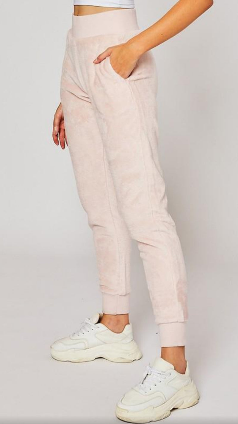 Velour Jogger - Mauve/Pink - OWN YOUR ELEGANCE