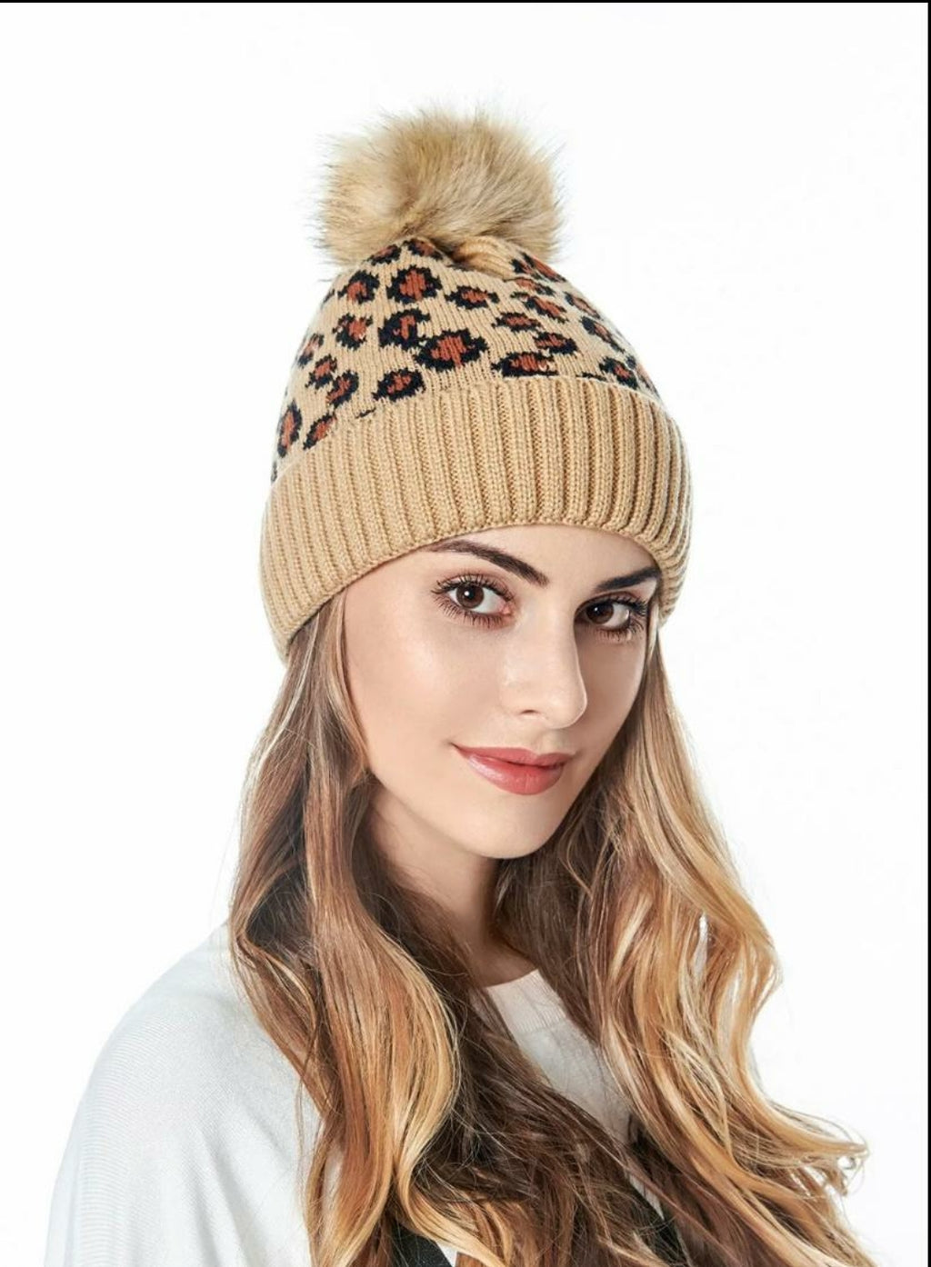 Adult Leopard Beanie - Brown - OWN YOUR ELEGANCE