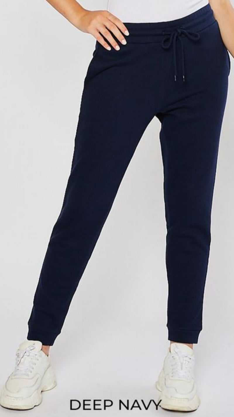 High Rise Jogger - Deep Navy - OWN YOUR ELEGANCE