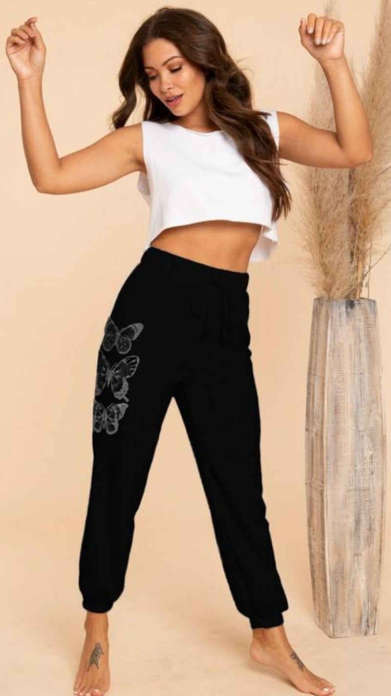 Butterfly Jogger - Black - OWN YOUR ELEGANCE