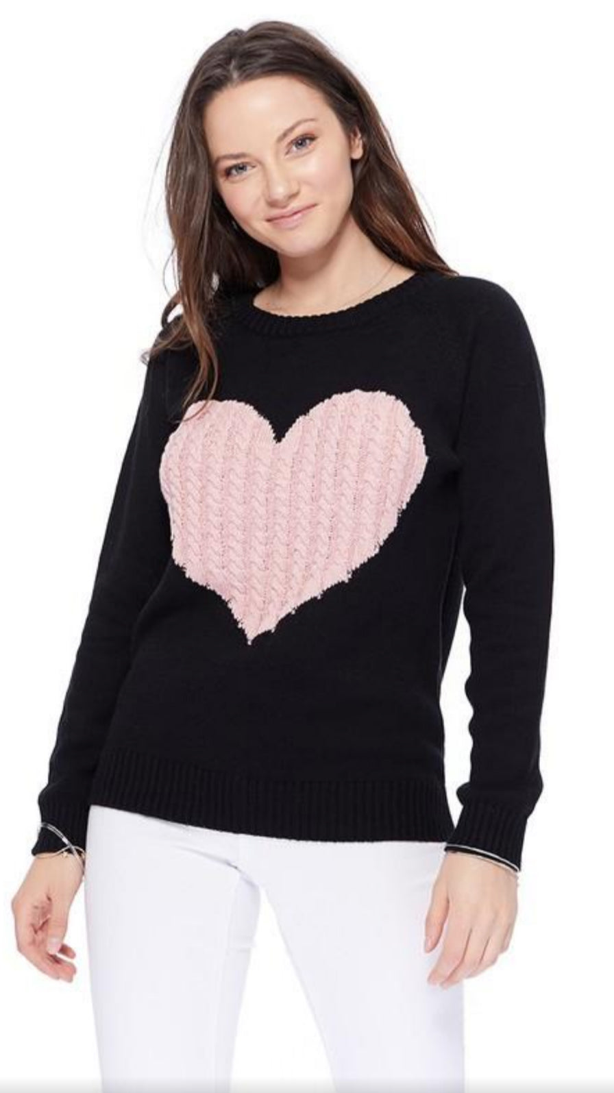 Love Her Sweater - Black/Pink - OWN YOUR ELEGANCE
