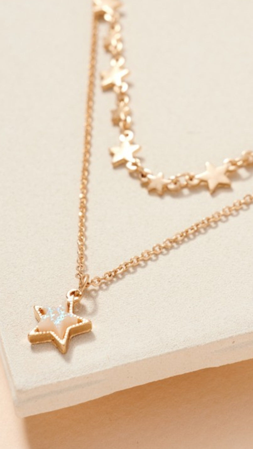 Druzy Star Charm Necklace - Gold - OWN YOUR ELEGANCE