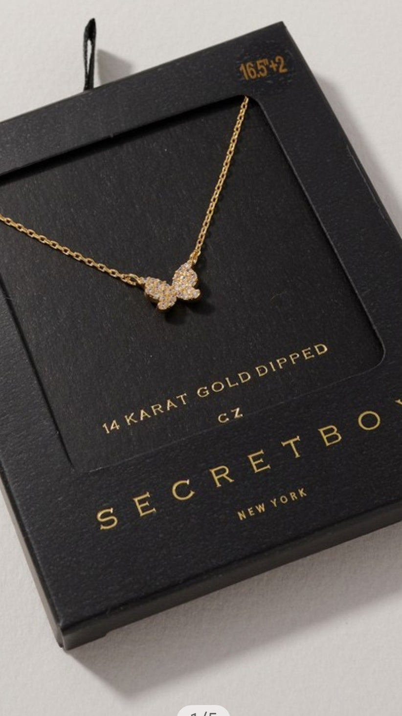 Secret Box Butterfly Necklace - OWN YOUR ELEGANCE