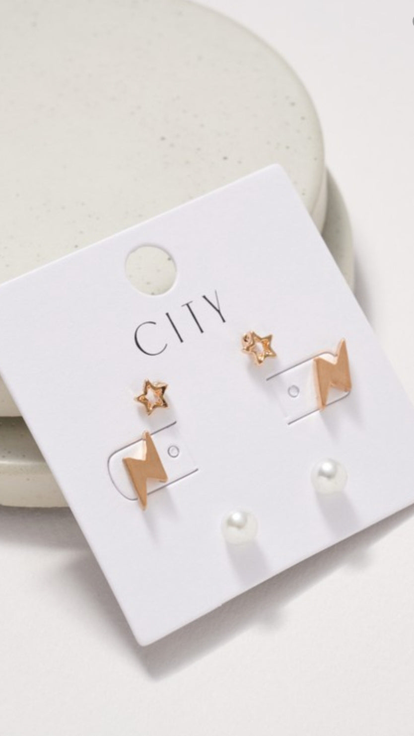 Stud Set Earring - OWN YOUR ELEGANCE