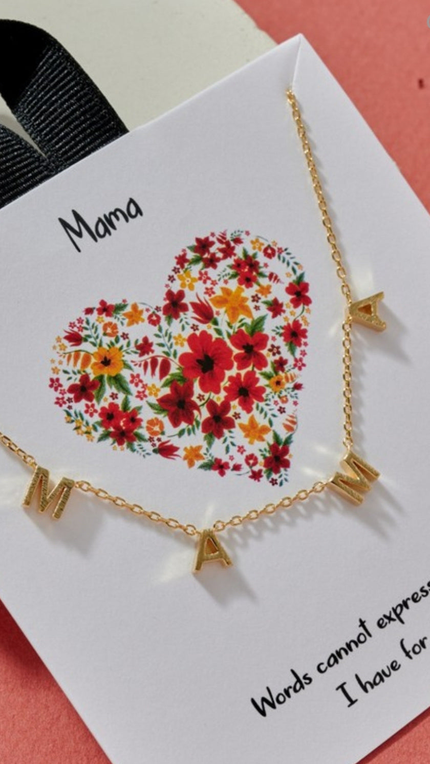 MAMA Short Necklace - Gold - OWN YOUR ELEGANCE