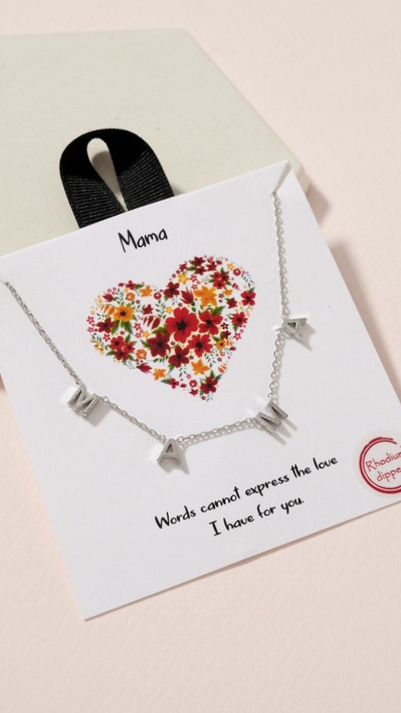 MAMA Short Necklace - Silver - OWN YOUR ELEGANCE