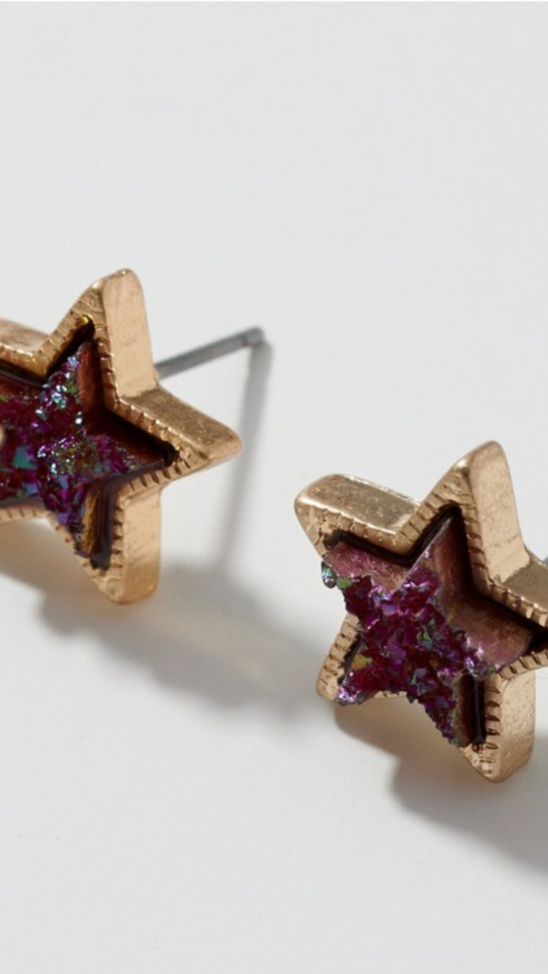Metallic Star Earring - OWN YOUR ELEGANCE