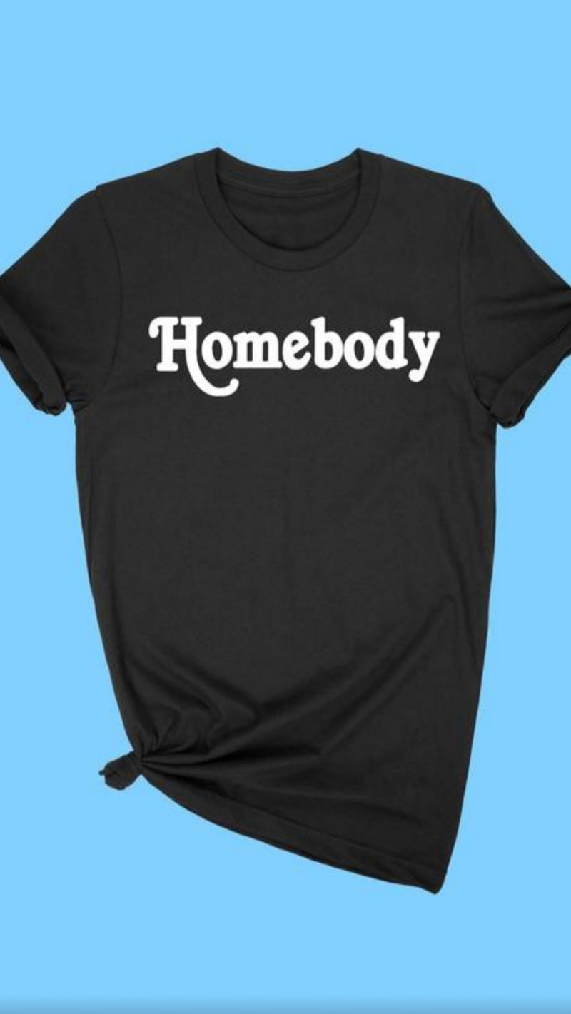 Homebody T-Shirt - Black.