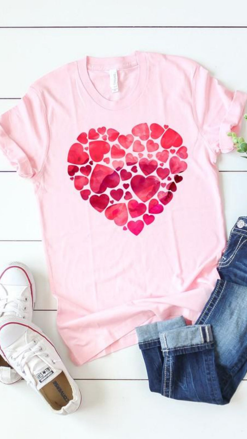 Watercolour Heart of Hearts T-Shirt.