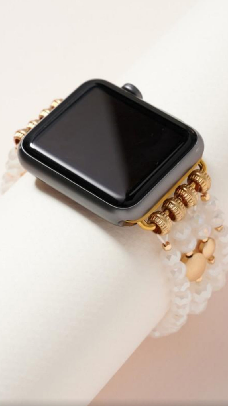iWatch White Bead Band.