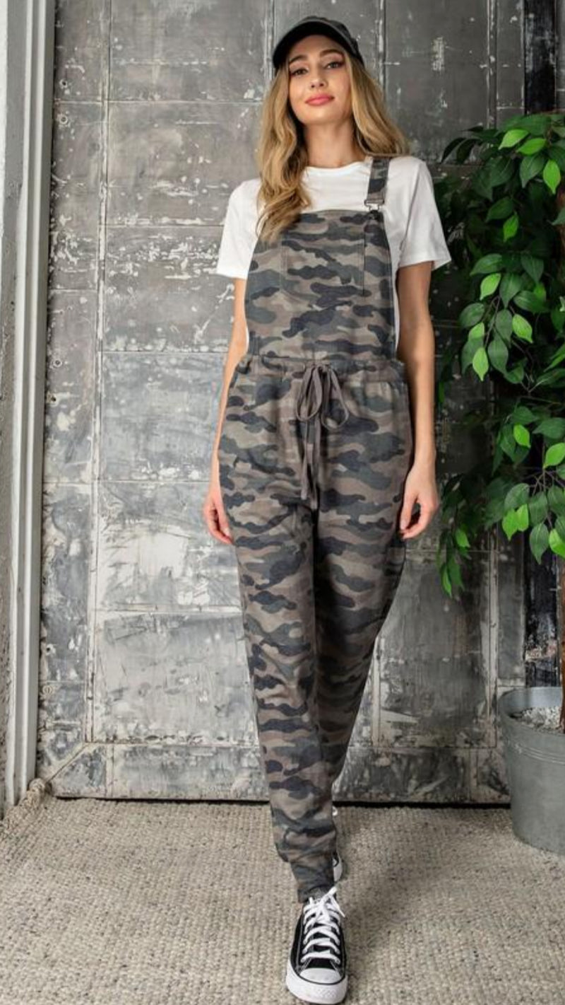 NEW EESOME Camo Print Overalls.