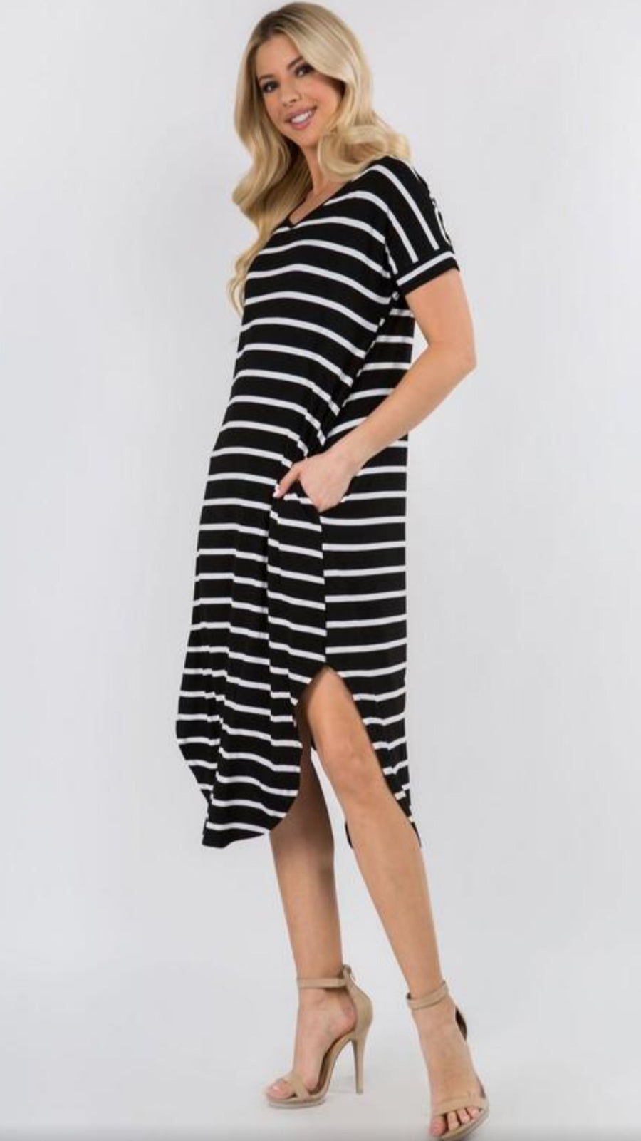 Aurora Midi Dress - Black