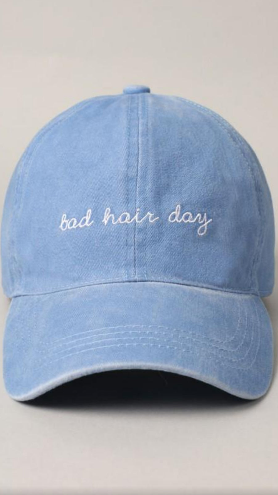 Bad Hair Day Baseball Cap - Denim Blue